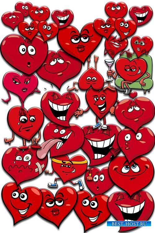 Смешные сердца - Клипарт