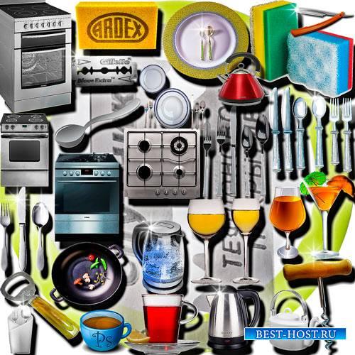 Клипарты для фотошопа - Принадлежности для кухни