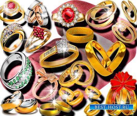Клипарты для фотошопа - Золотые кольца