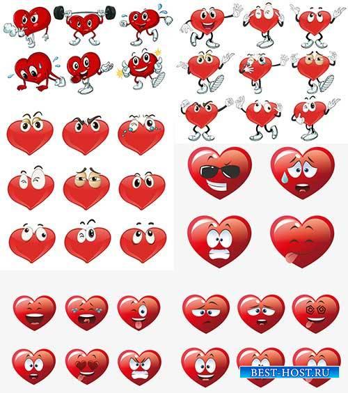 Сердечки в векторе / Hearts in vector