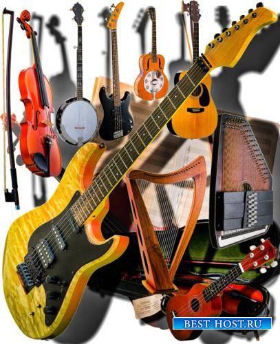 Png клипарты - Струнные инструменты