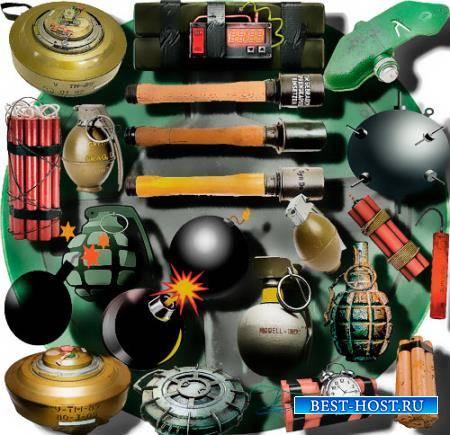 Растровые клип-арты - Боевые гранаты
