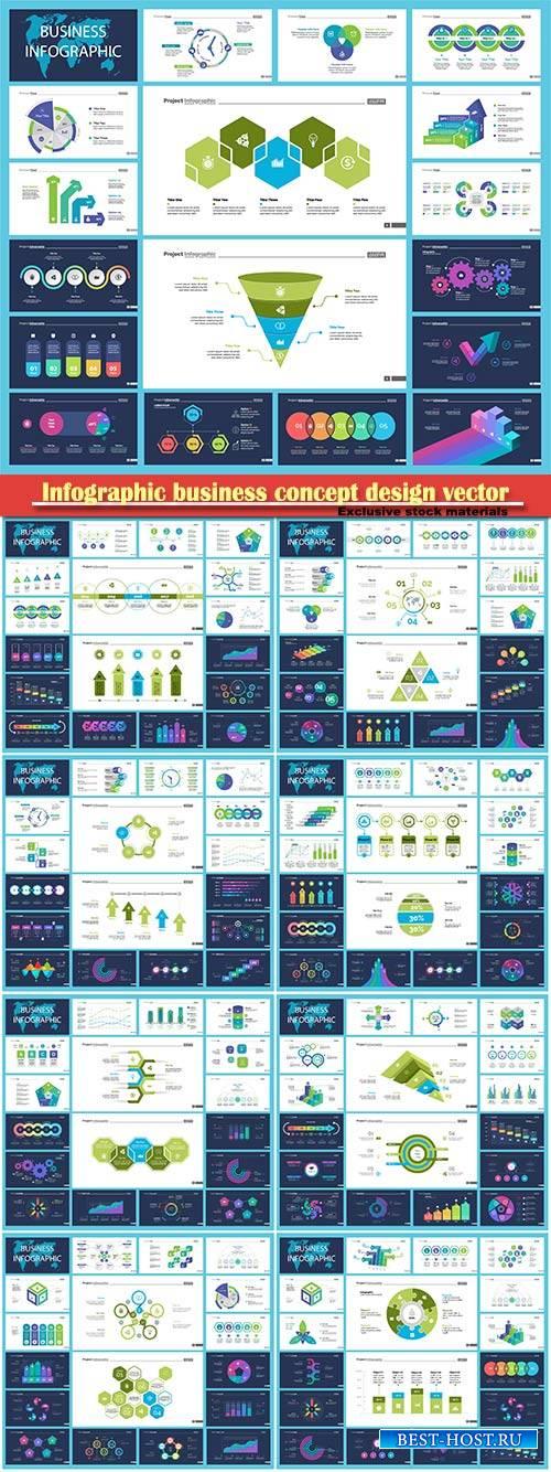 Infographic business concept design vector illustration # 4