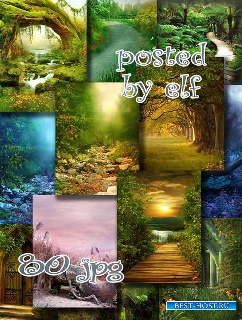 Сказочные места - набор фонов для фотошопа
