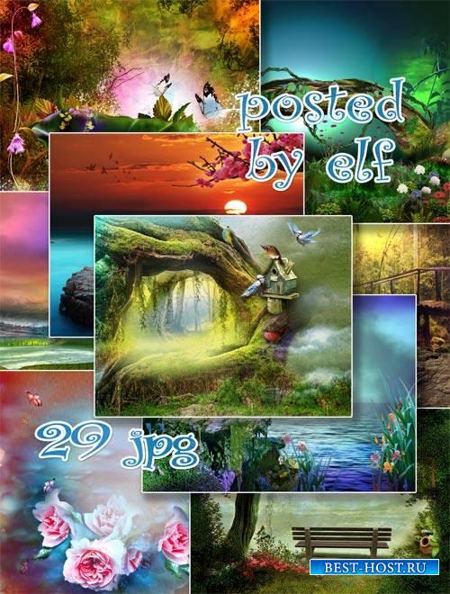Сказочные места - набор фонов для фотошопа 2