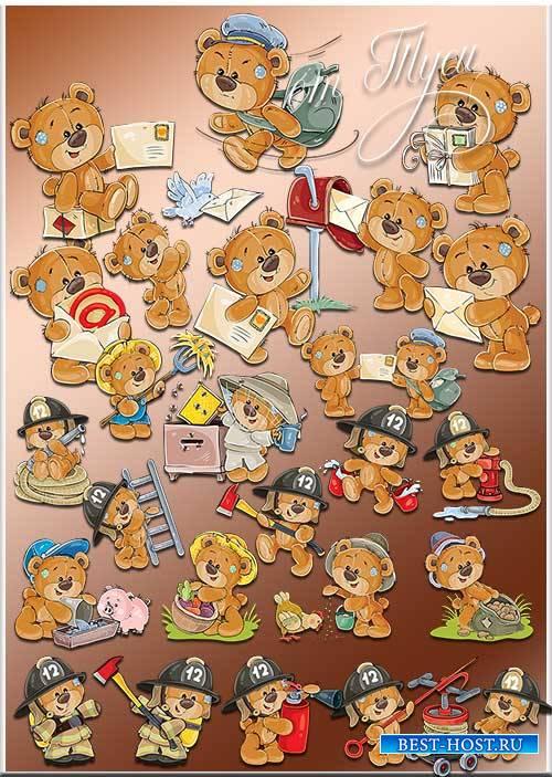 Мишки Тедди могут всё - Клипарт