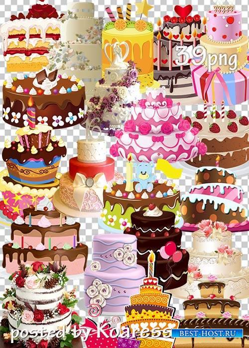 Клипарт png для дизайна - Торты, свадебные торты, торты на День Рождения