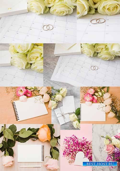 Цветочные композиции - Растровый клипарт / Flower Arrangements - Raster cli ...