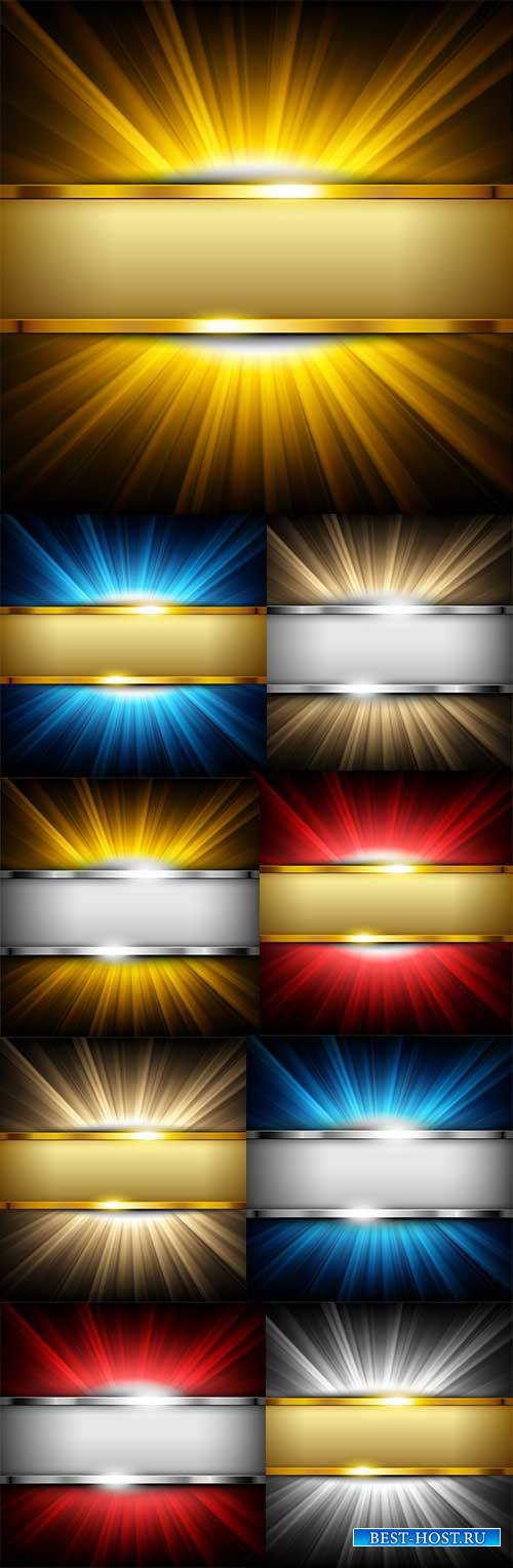 Металлические фоны - Векторный клипарт / Metal backgrounds - Vector Graphic ...