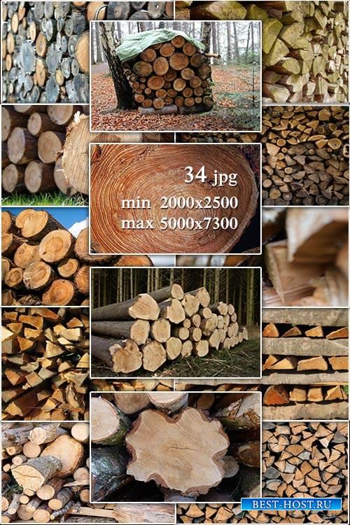 Wood, logs, firewood - Лес, дерево, бревна, дрова, брус