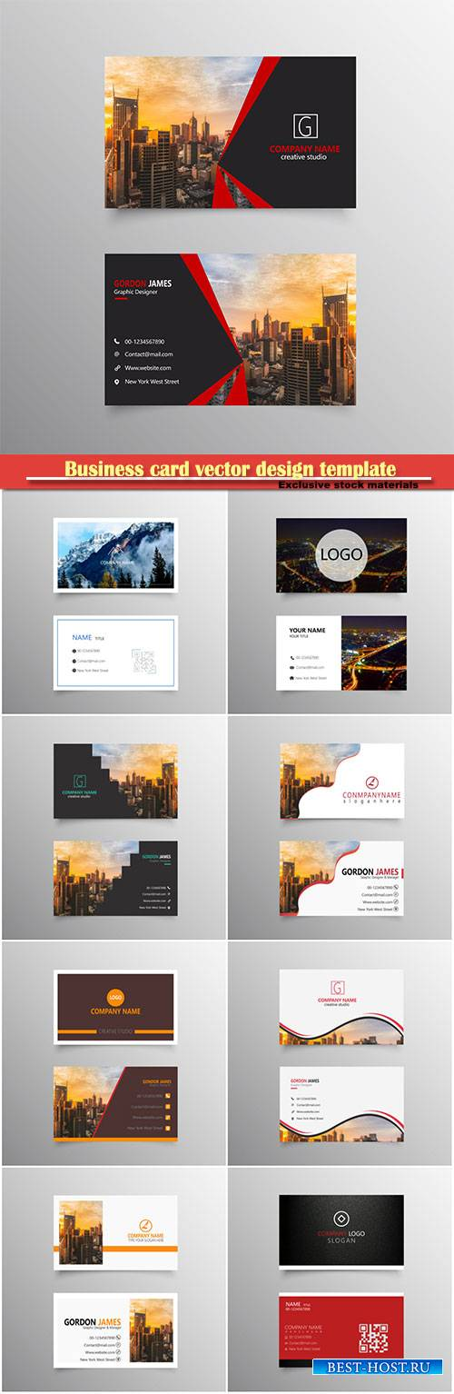 Business card vector design template