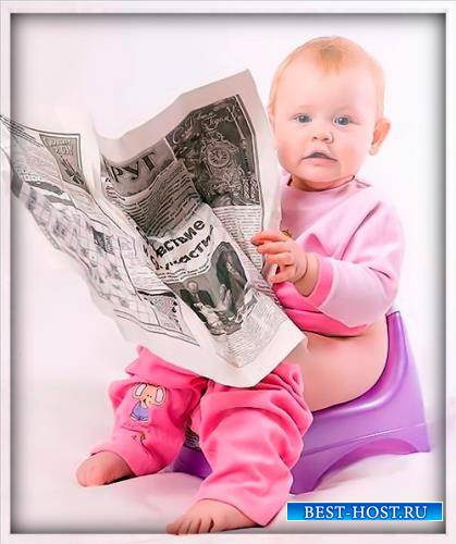 Шаблон детский - Вундеркинд с газетой