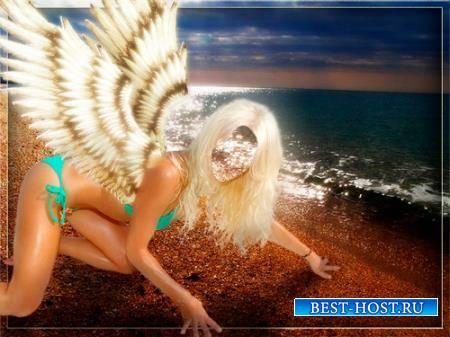 Шаблон для девушки - Я твой ангел