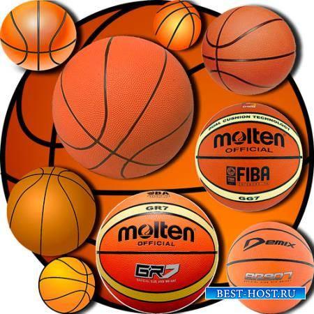 Клипарты без фона - Баскетбольные мячи