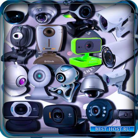 Клипарты на прозрачном фоне - Веб камеры