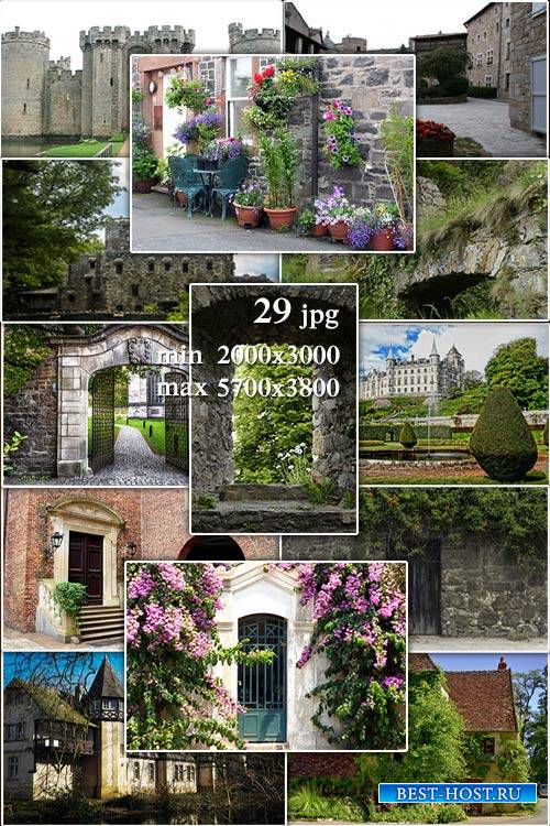Ancient buildings, castles, walls jpg backgrounds - Старинные здания, замки, стены в jpg для коллажей