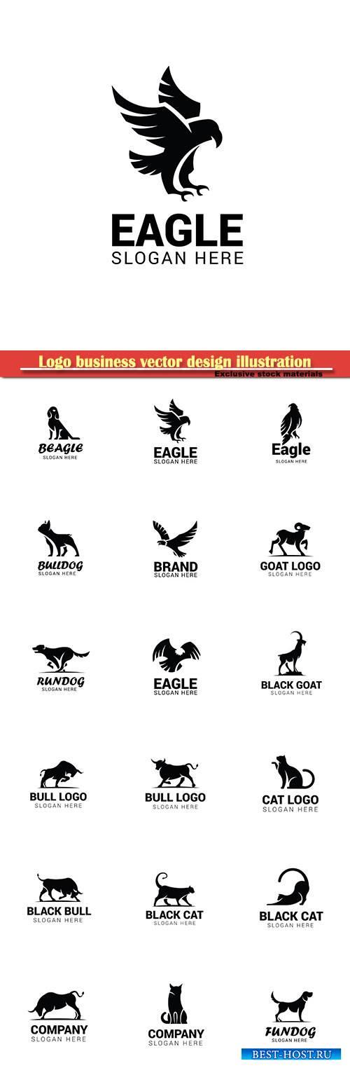 Logo animal vector design illustration # 43