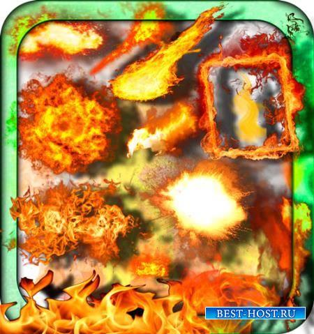 Растровые клипарты - Взрывы и пожары