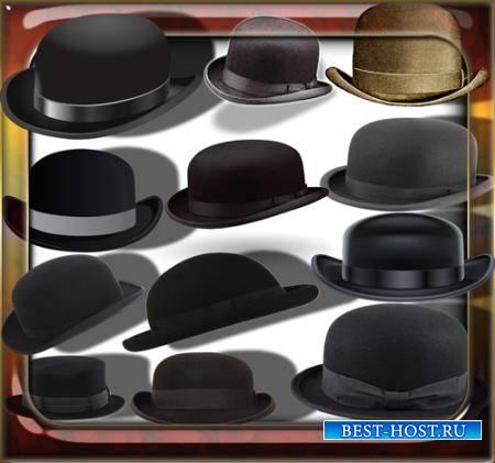 Клипарты для фотошопа - Ретро шляпы