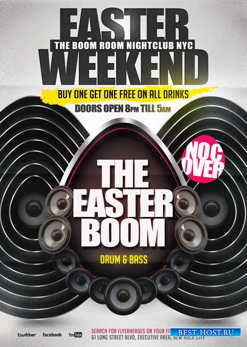 Easter Boom psd flyer template
