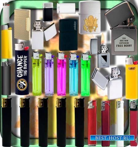 Клипарты для фотошопа - Газовые и бензиновые зажигалки