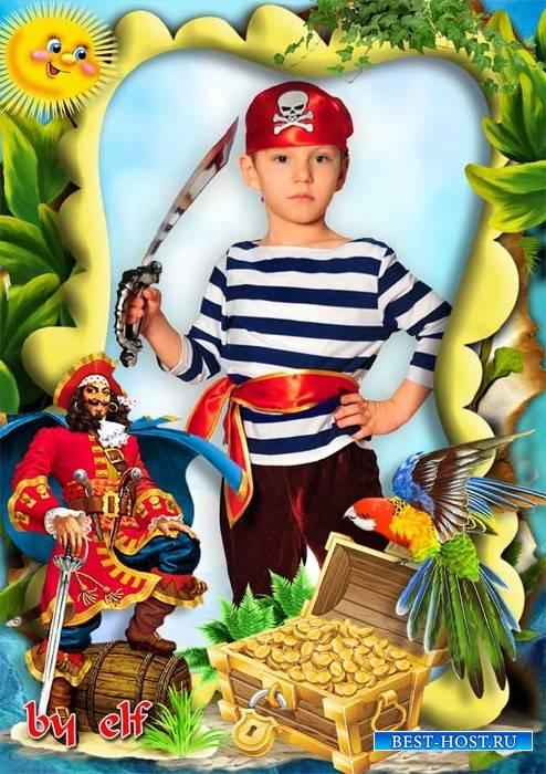 Детская рамка для фото - Остров сокровищ