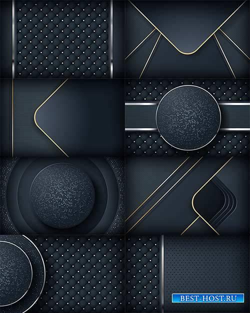 Абстрактный тёмный фон - Векторный клипарт / Abstract dark background - Vector Graphics