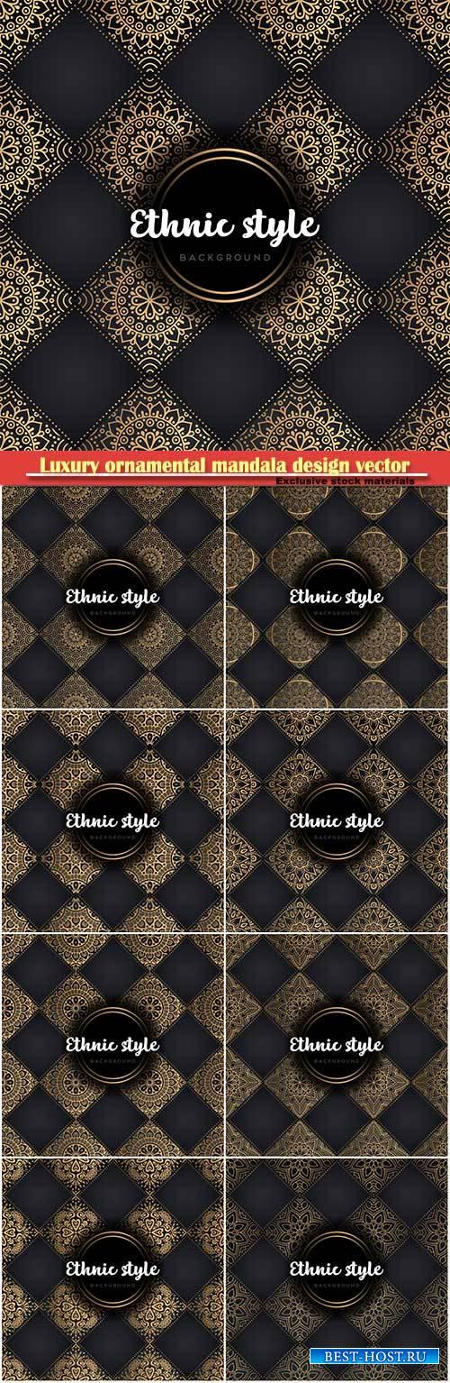 Luxury ornamental mandala design vector background