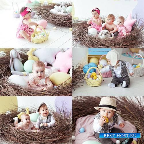Дети и пасха - Растровый клипарт / Kids and Easter - Raster clipart