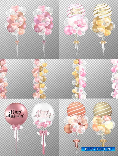 Воздушные шары - Векторный клипарт - Balloons - Vector Graphics