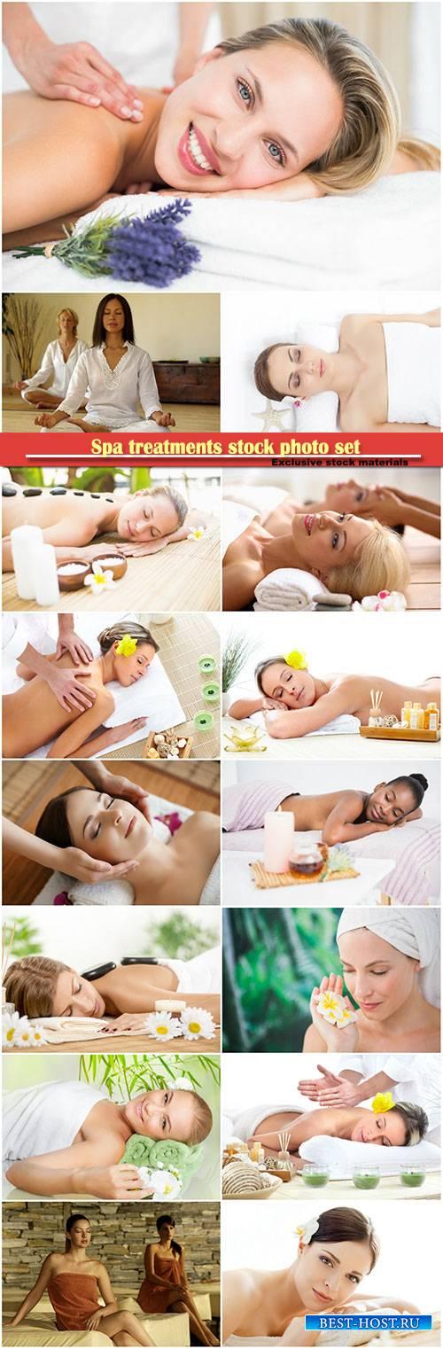 Spa treatments stock photo set