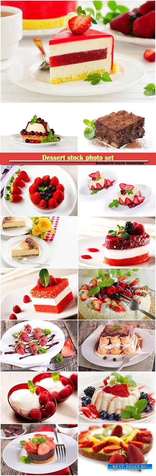 Dessert stock photo set
