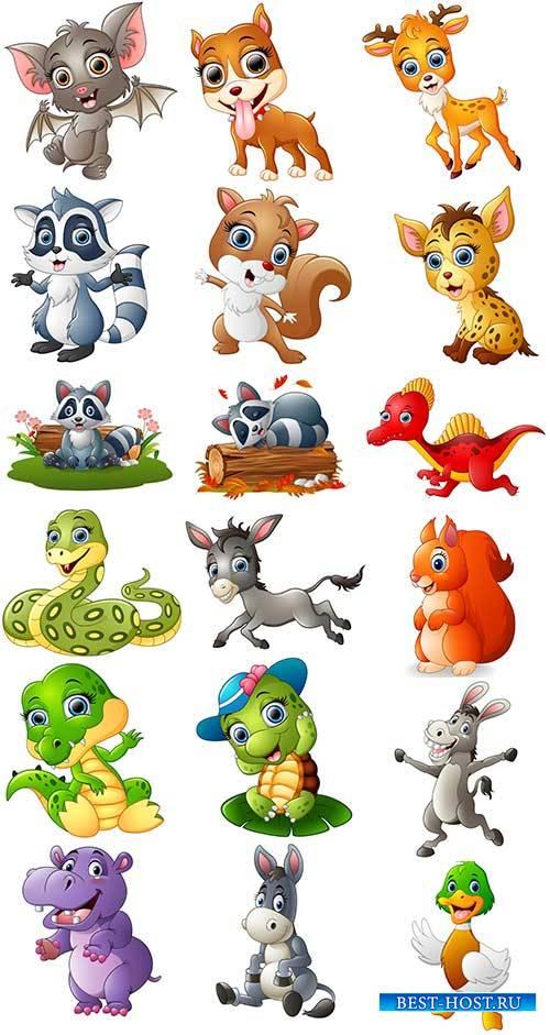 Животные - Векторный клипарт / Animals - Vector Graphics