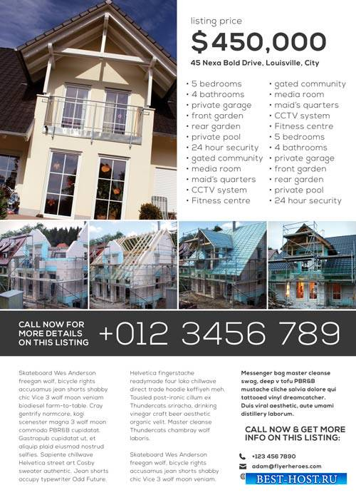 Simple Real Estate psd flyer template