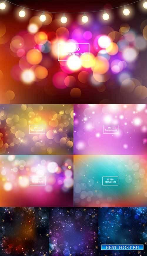 Разноцветные абстрактные фоны в векторе / Multicolored abstract backgrounds ...