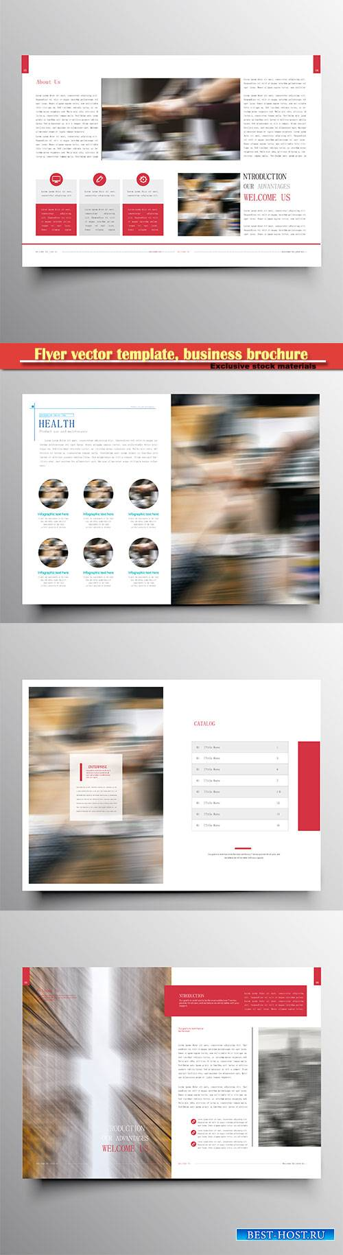Flyer vector template, business brochure, magazine cover # 32