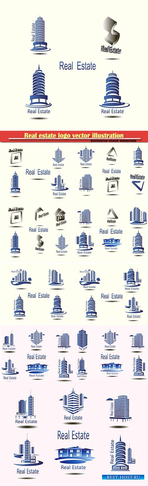 Real estate logo vector illustration