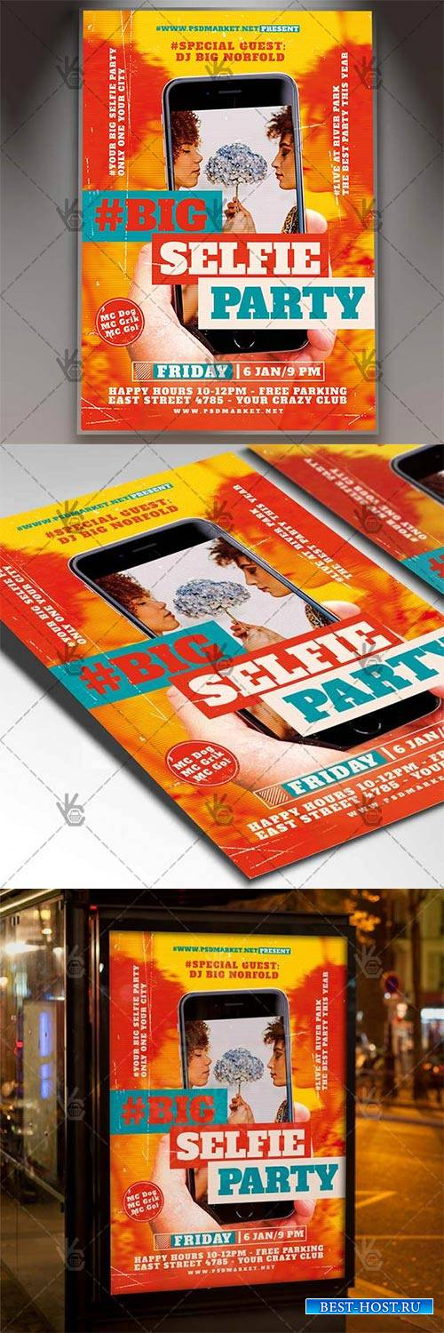 Selfie Party – Club Flyer PSD Template