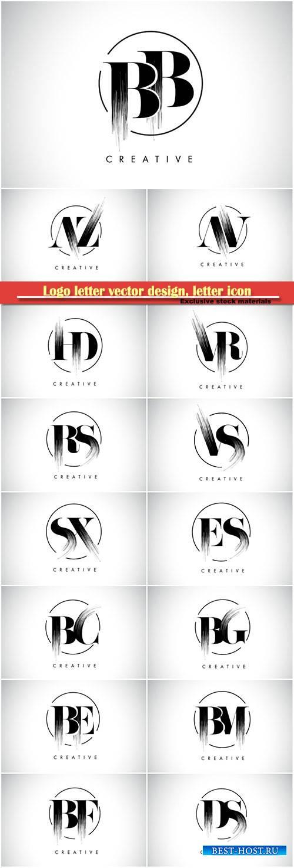 Logo letter vector design, letter icon # 10