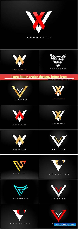 Logo letter vector design, letter icon # 9