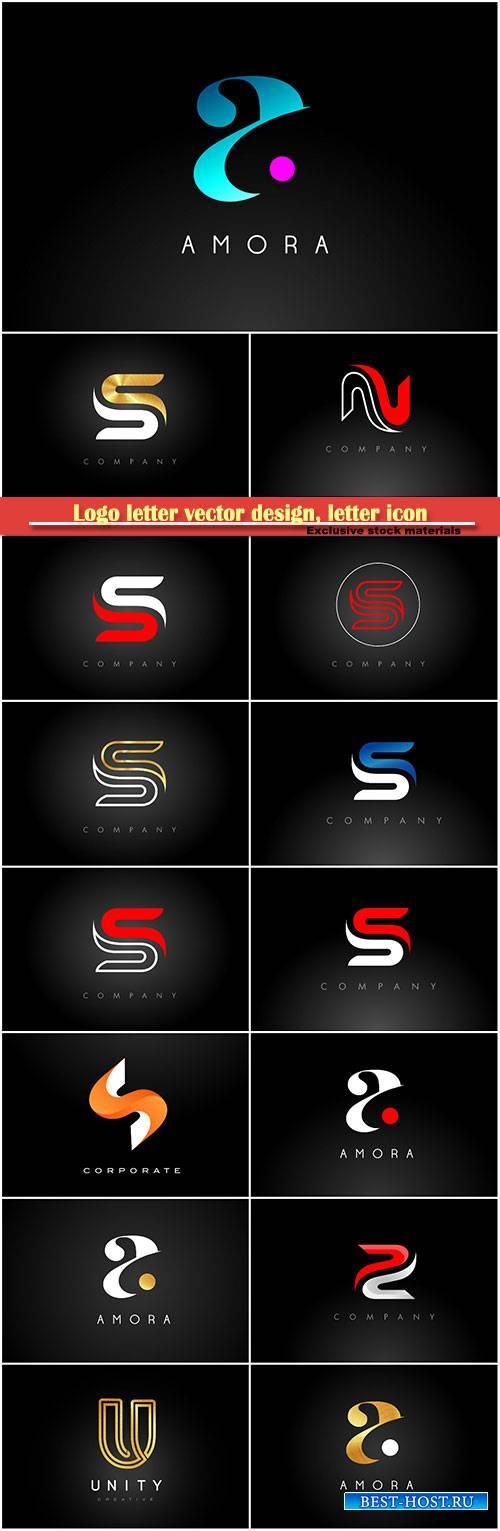 Logo letter vector design, letter icon # 11