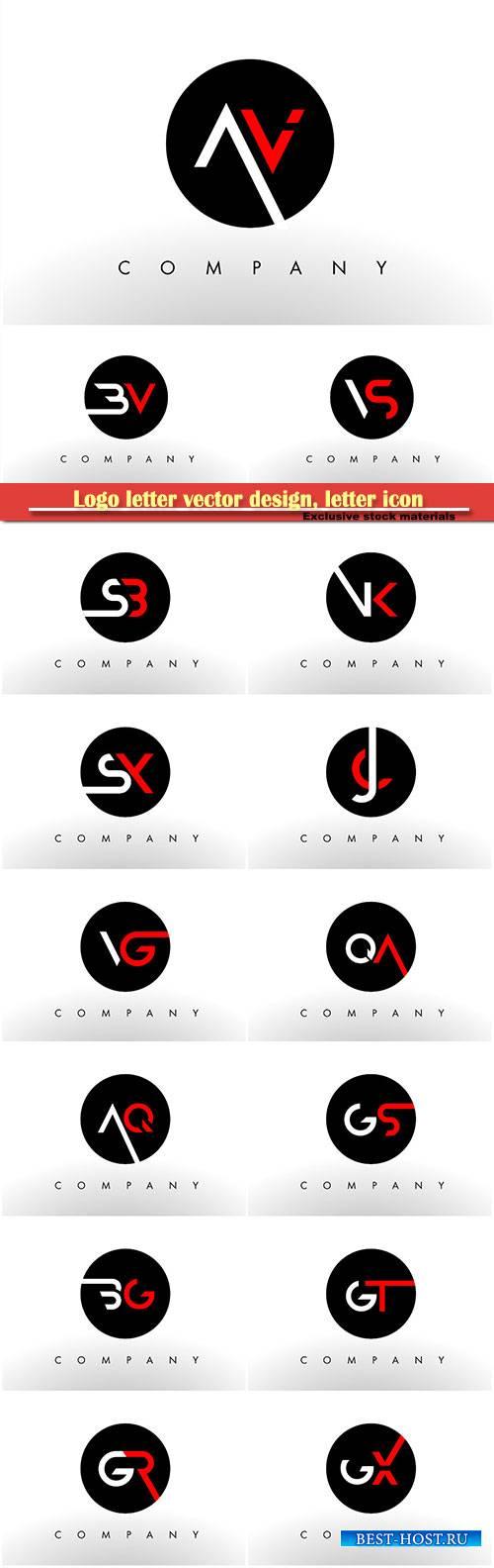 Logo letter vector design, letter icon # 16