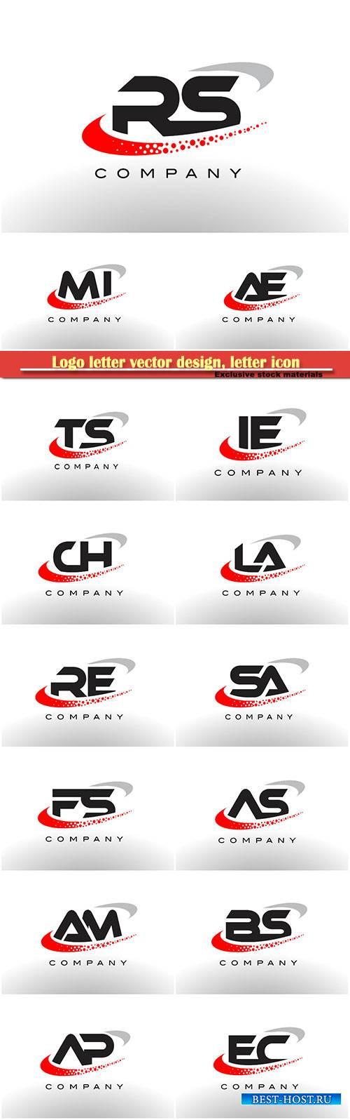 Logo letter vector design, letter icon # 15