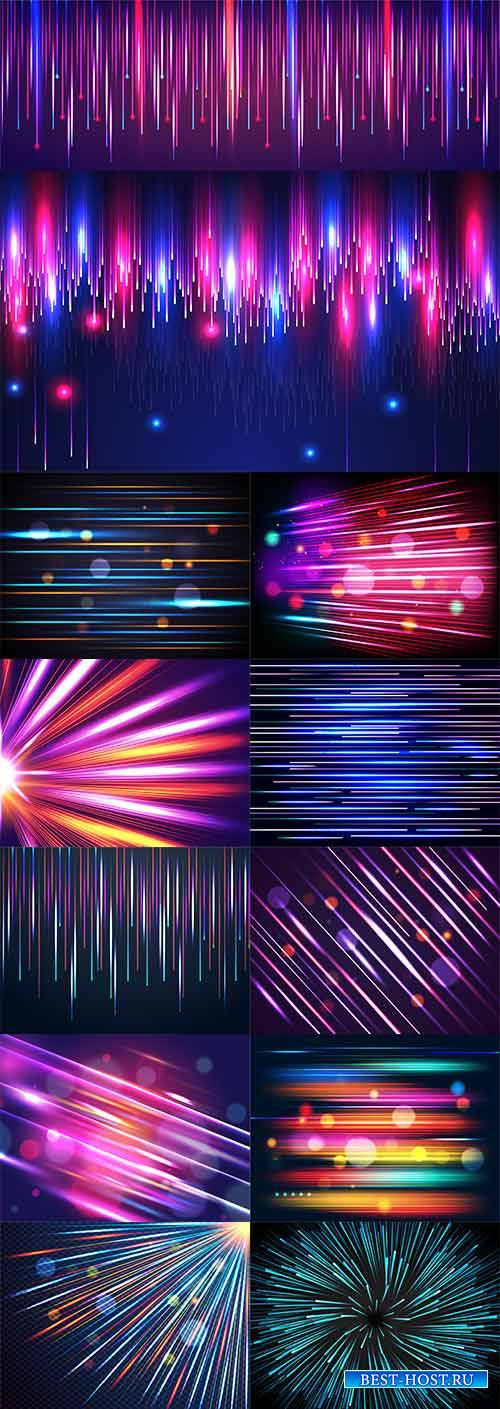 Цветные абстрактные фоны в векторе / Colorful abstract backgrounds in vecto ...