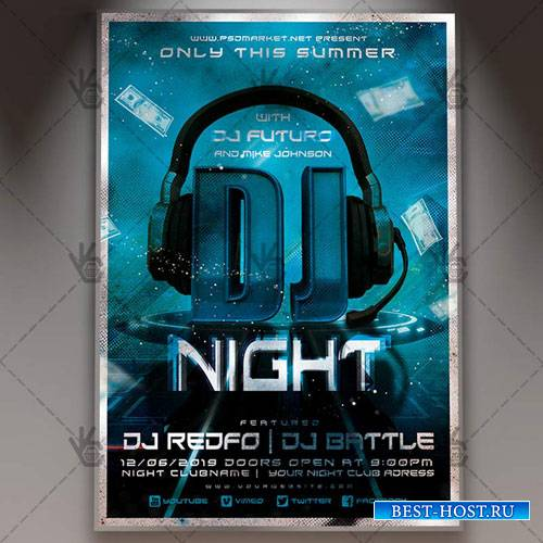 CLUB PARTY FLYER – PSD TEMPLATE