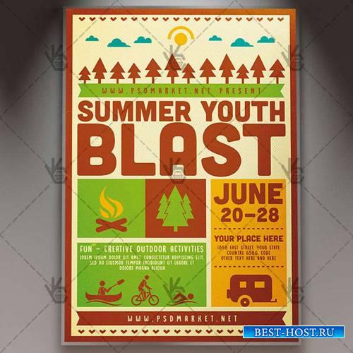 Summer Blast Camp Flyer – PSD Template