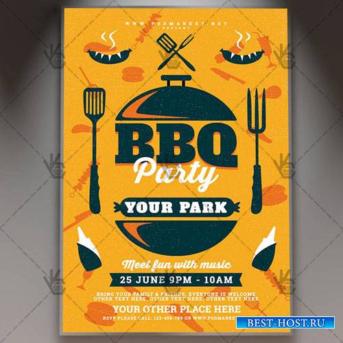 BBQ PARTY FLYER – PSD TEMPLATE