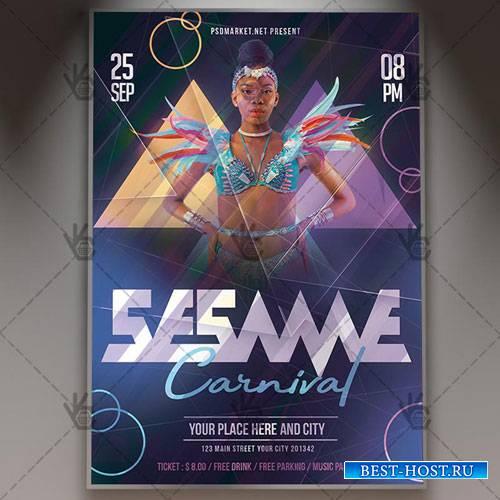 Sesame Carnival Flyer – PSD Template