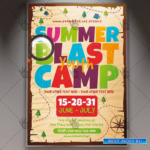 SUMMER YOUTH BLAST FLYER - PSD TEMPLATE