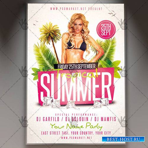 Tropical Summer Flyer - PSD Template